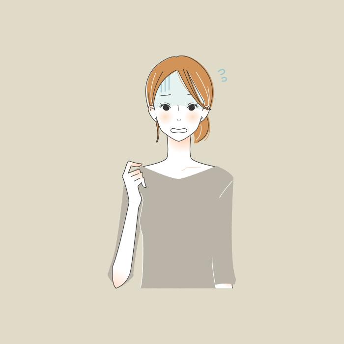 青ざめる女性